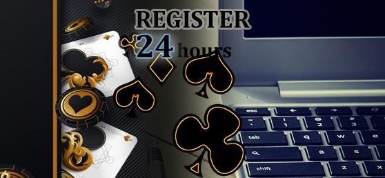 Playing at an online gambling website